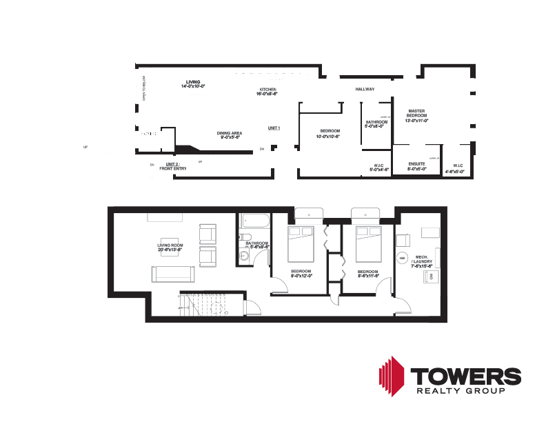 Towers Realty Group - 604 Jessie - Unit 1 - Floor plan 00744301