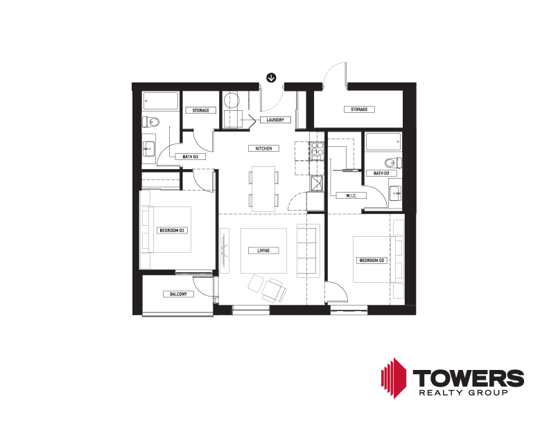 Towers Realty Group - Spot on Pembina floor plan - 02152207 - 2 bed type 7