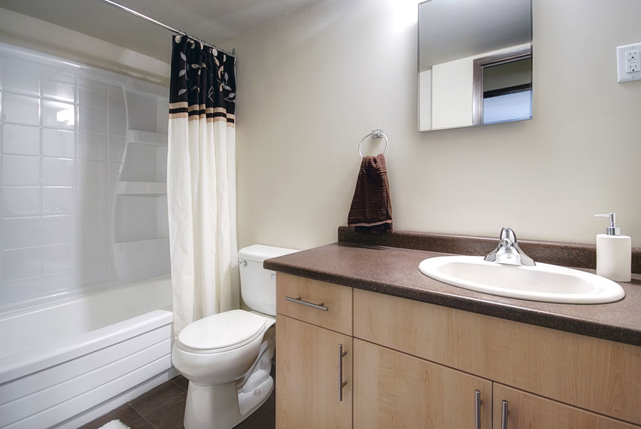 Apartments For Rent Winnipeg - Drury Apartment Bathroom - Towers Realty