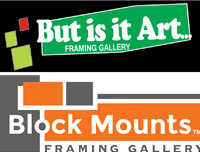 but is it art and block mounts framing