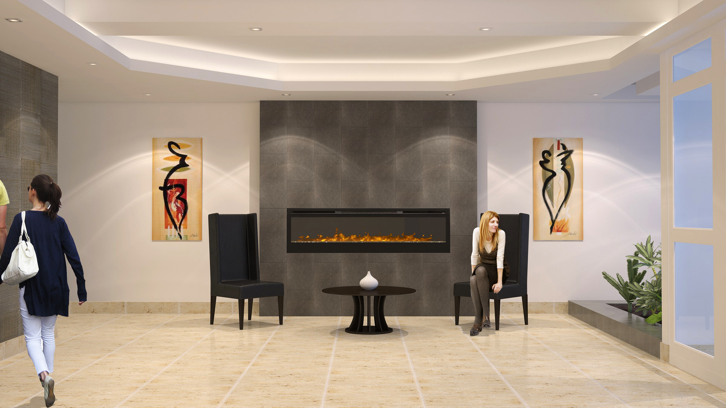 Apartments For Rent Winnipeg - Ridge Apartment Lobby - Towers Realty