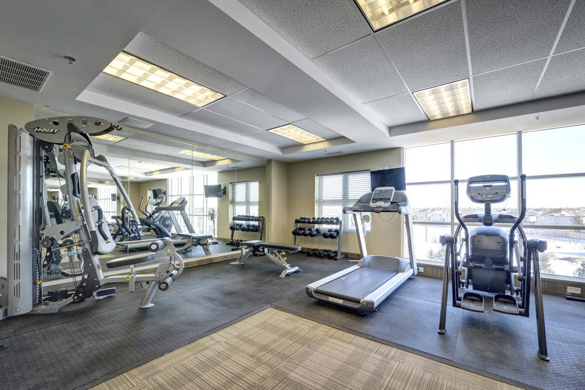 Apartments For Rent Winnipeg - Ridge Apartment Gym - Towers Realty