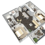 Apartments For Rent Winnipeg - Ridge Apartment Floor Plan - Towers Realty